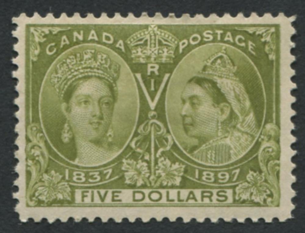 Canada 1897 Jubilee #65 $5 MLH VF