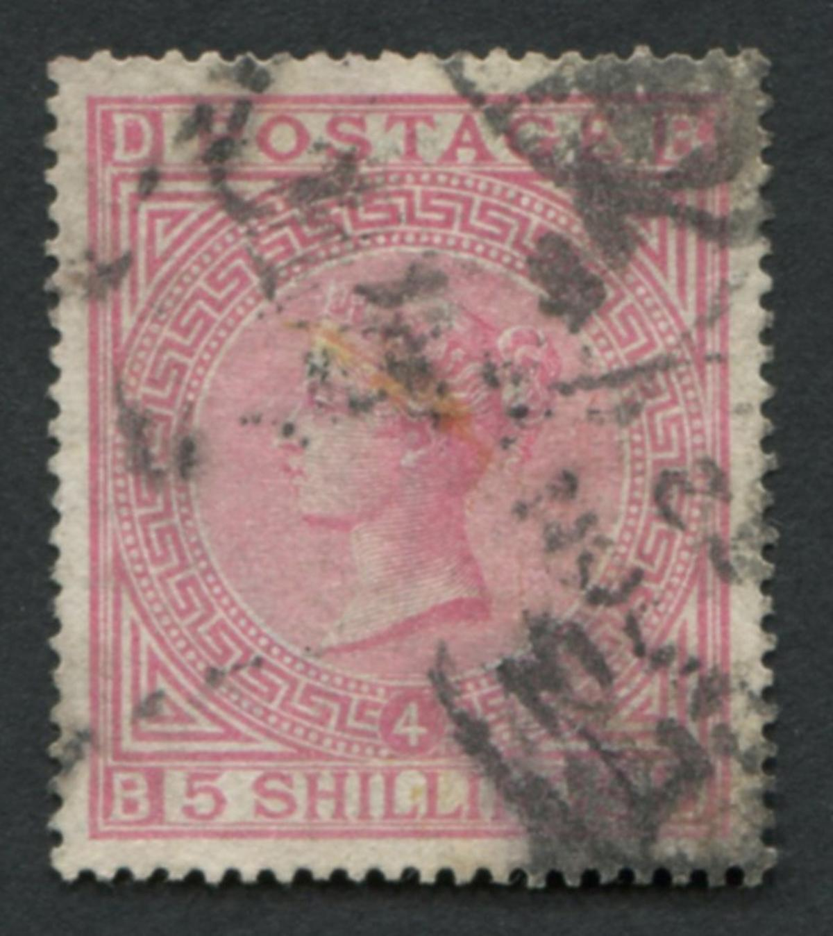 Great Britain 1882 #90 a24 5sh Rose