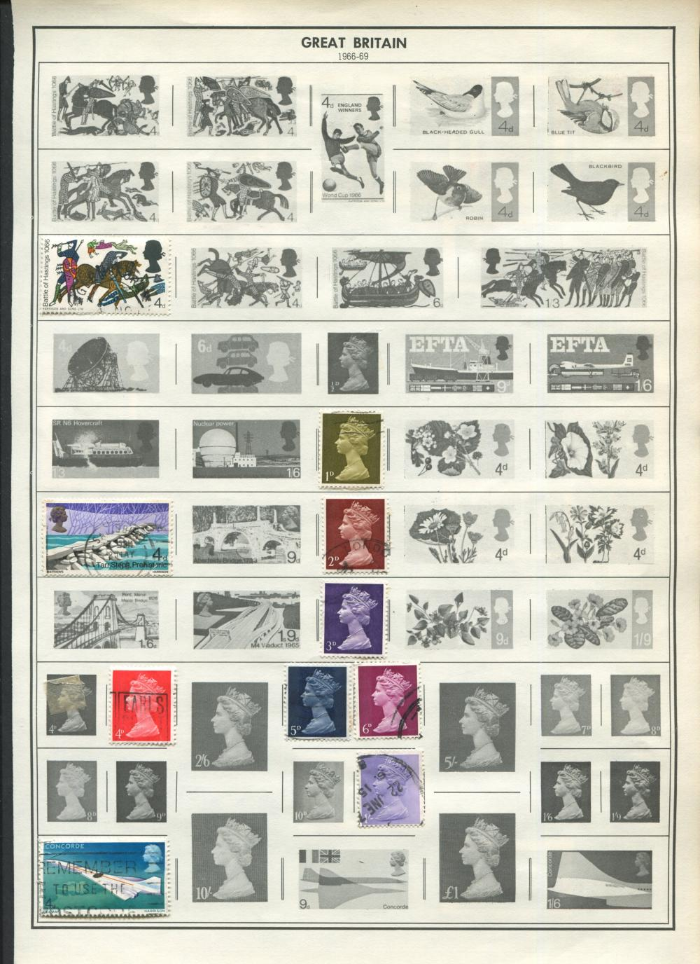 Great Britain Stamp Collection From 1860