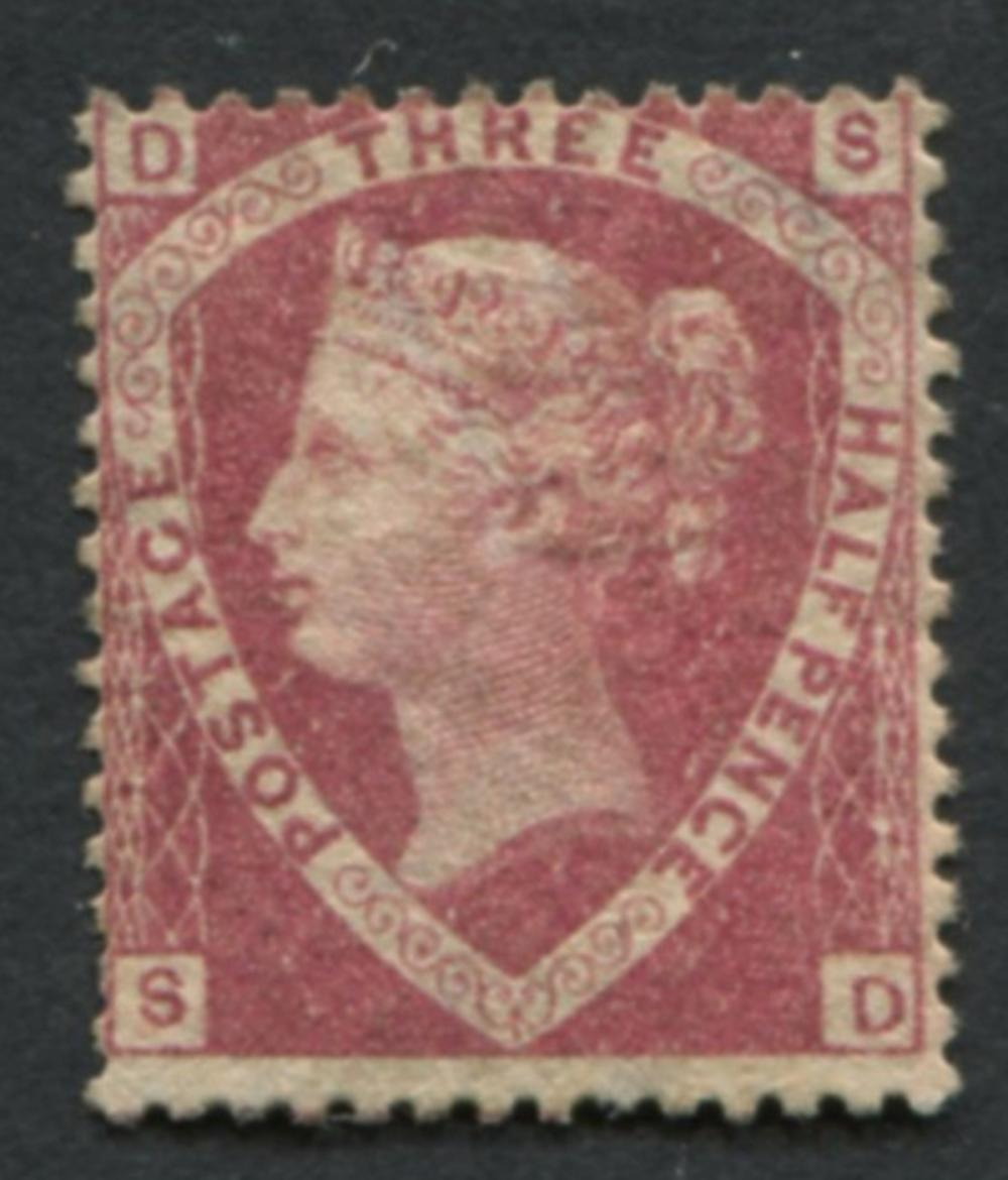 Great Britain 1860 #32 a9 1 1/2p Dull Rose