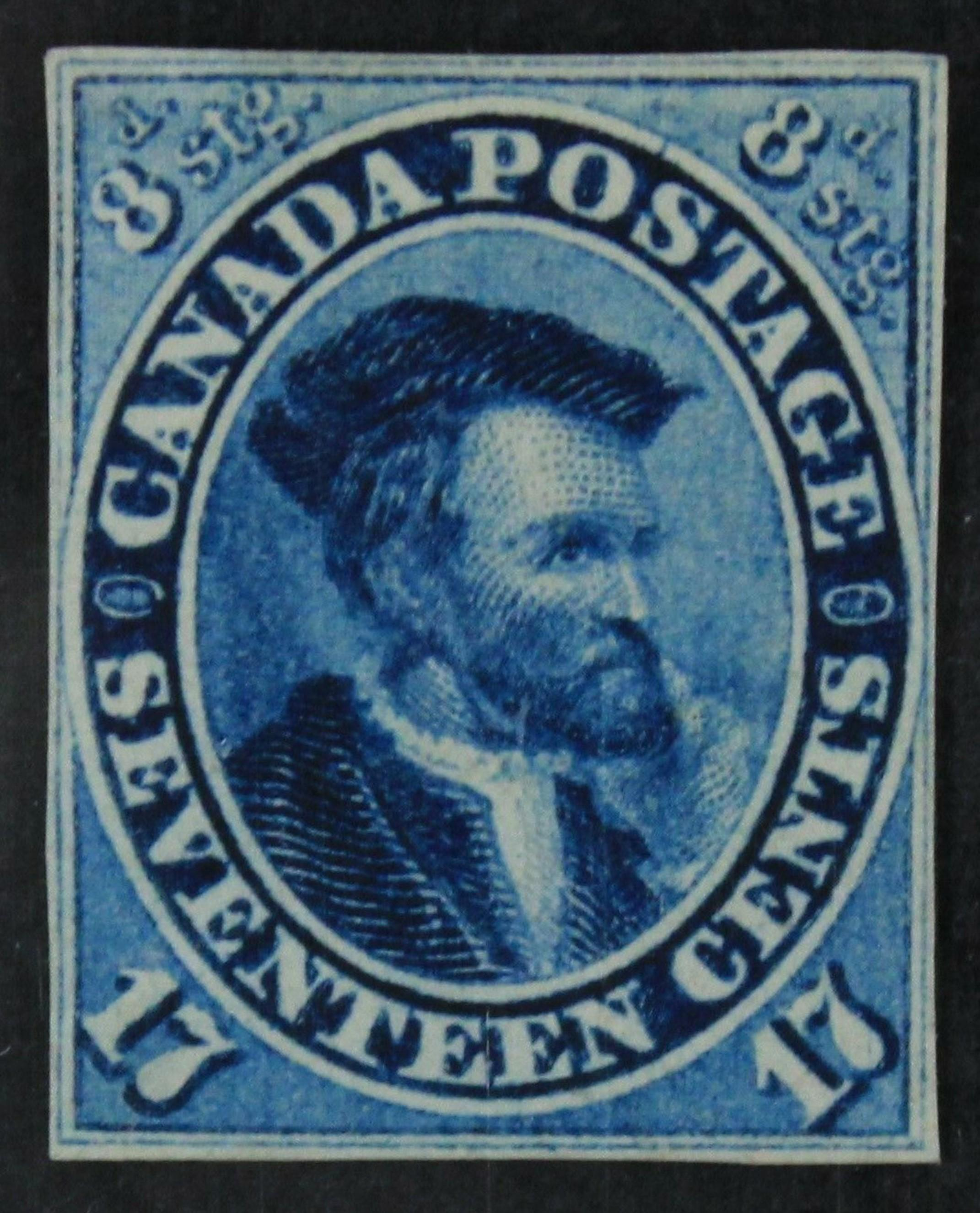 Canada 1859 #19 17c Imperf VF+