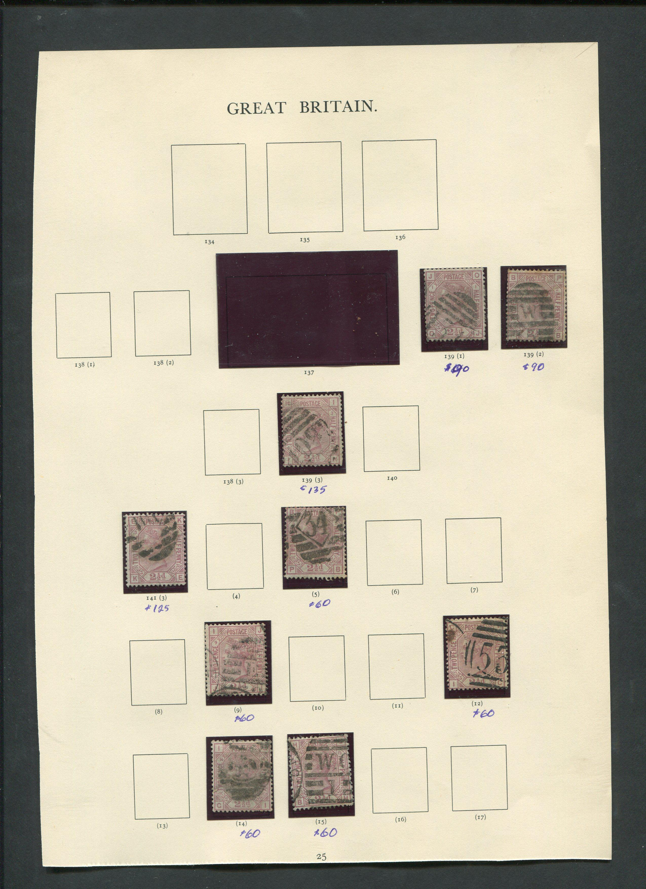 Great Britain 1865-75 Stamp Collection
