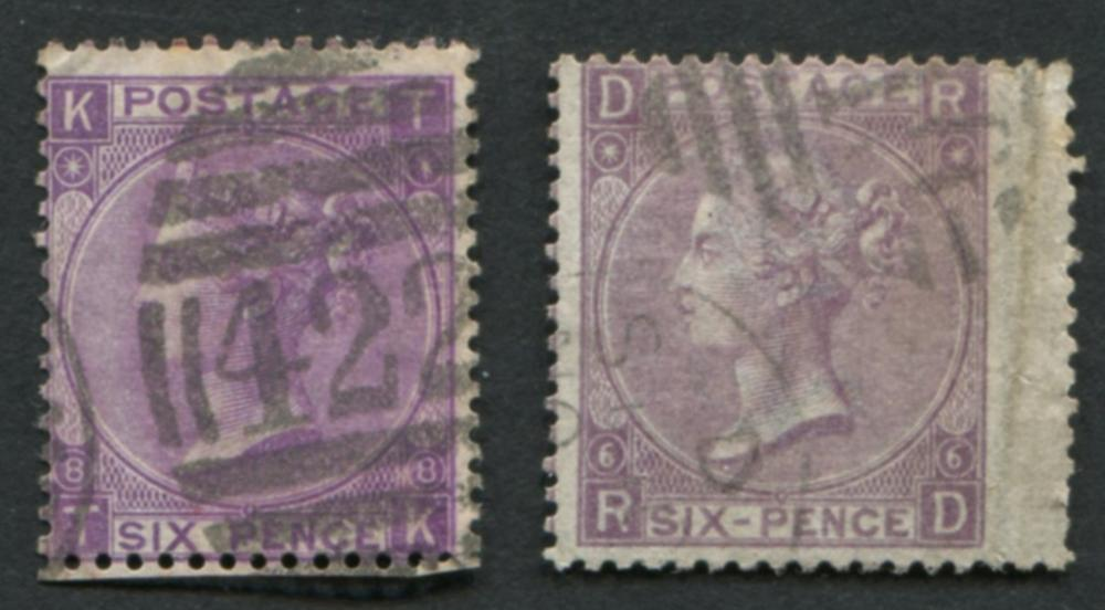 Great Britain 1867-69 #50 a18 6p, #51 a22 6p