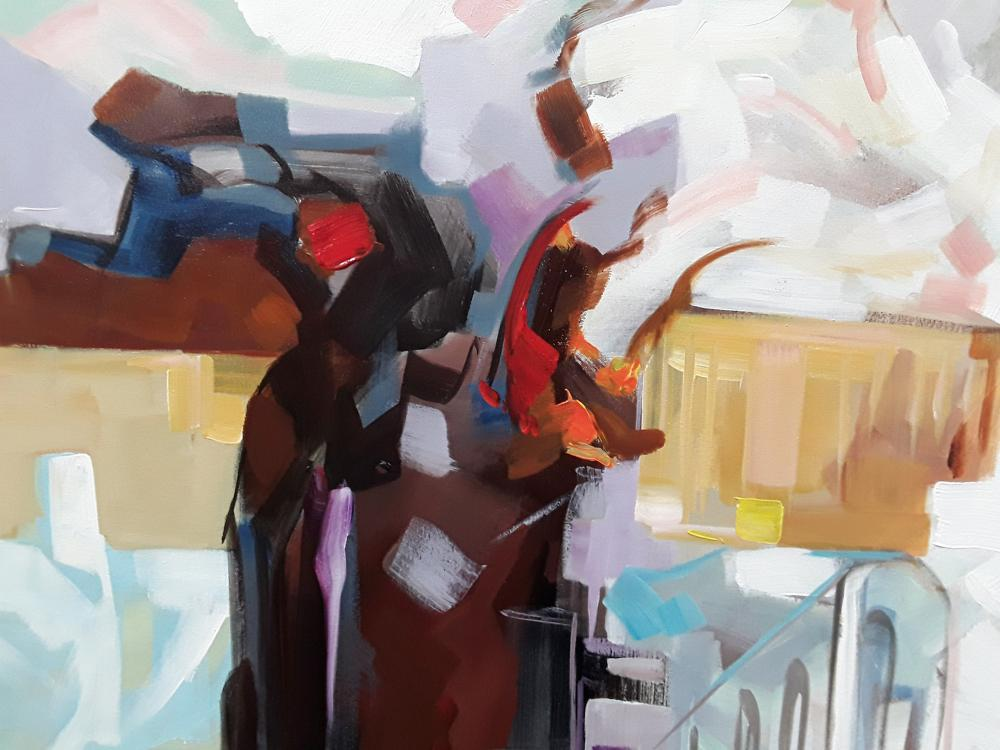 "Redis Ranxa's ""Abstract 7"" Original Acrylic Painting on Canvas"