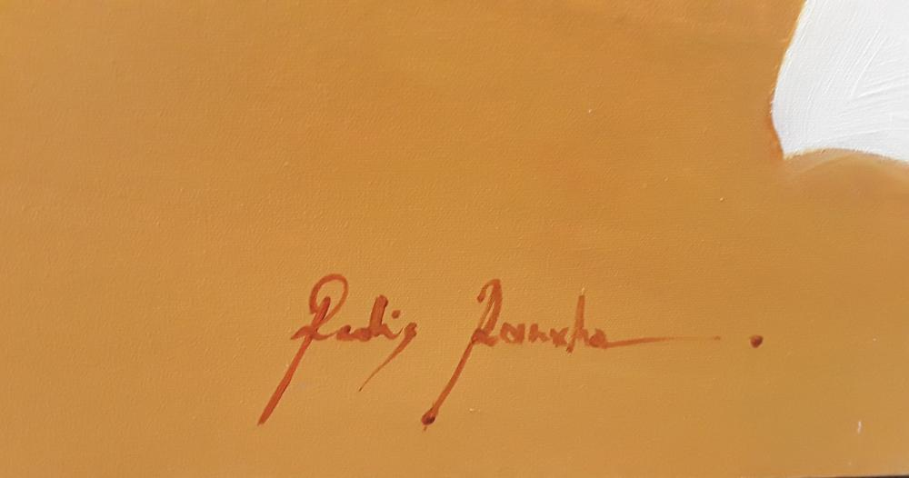 "Redis Ranxa's ""Abstract 8"" Original Acrylic Painting on Canvas"