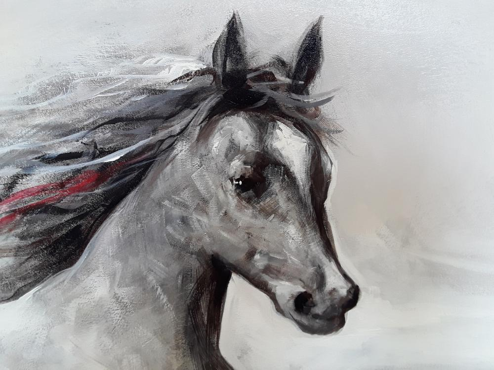 "Redis Ranxa's ""The Runners"" Original Acrylic Painting on Canvas"