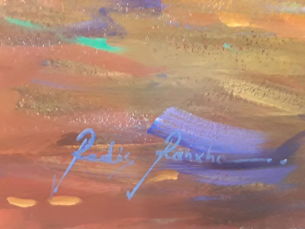 "Redis Ranxa's ""Abstract Horse"" Original Acrylic Painting on Canvas"
