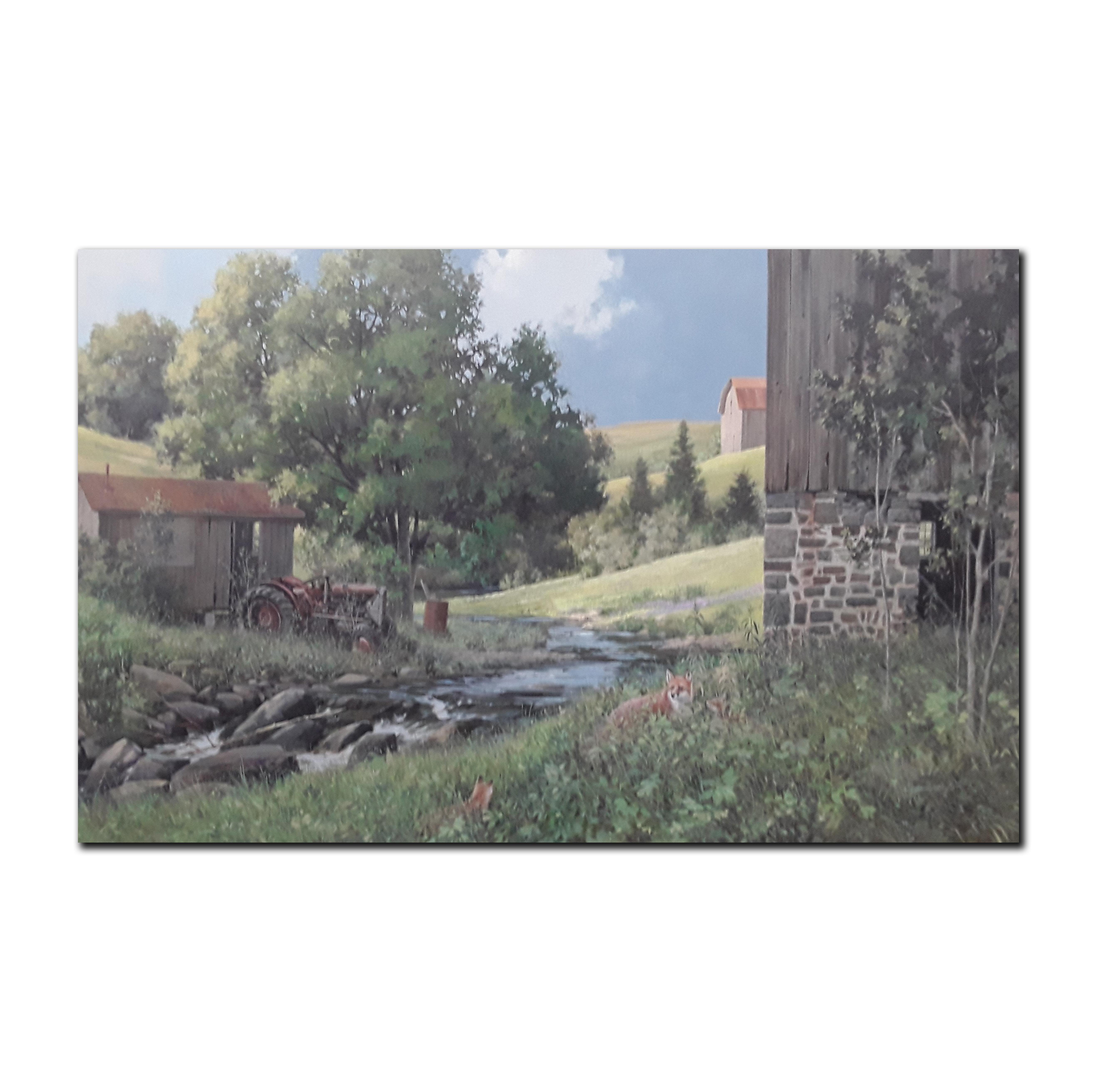 """Doug Laird's """"Curious Fox"""" Original Acrylic on Canvas Painting"""