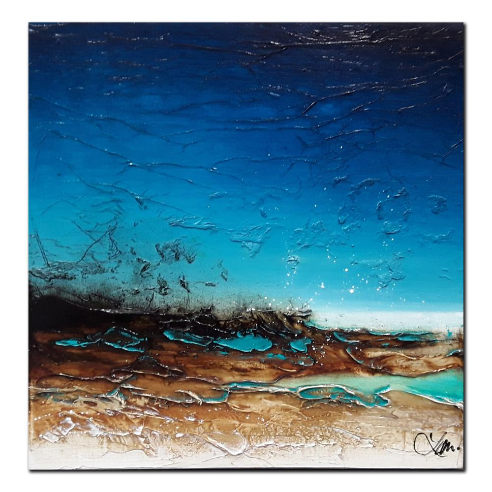"""Laura Harris's """"Turquoise Days"""" Original Oil on Canvas Framed Painting"""