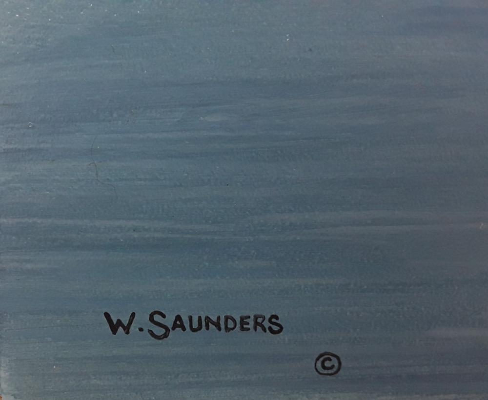 "Bill Saunders' ""Rising From The Sea"" Original Acrylic on Masonite Painting"