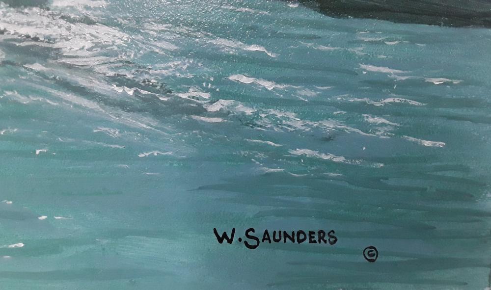 "Bill Saunders' ""Venice Canal"" Original Acrylic on Masonite Painting"