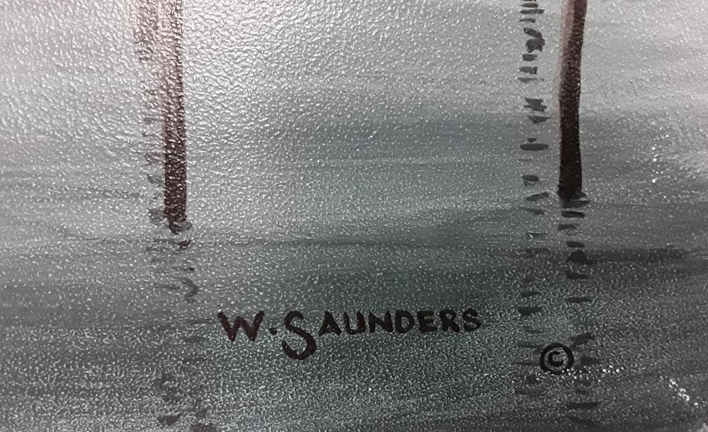 "Bill Saunders' ""Twilight in Venice"" Original Acrylic on Masonite Painting"