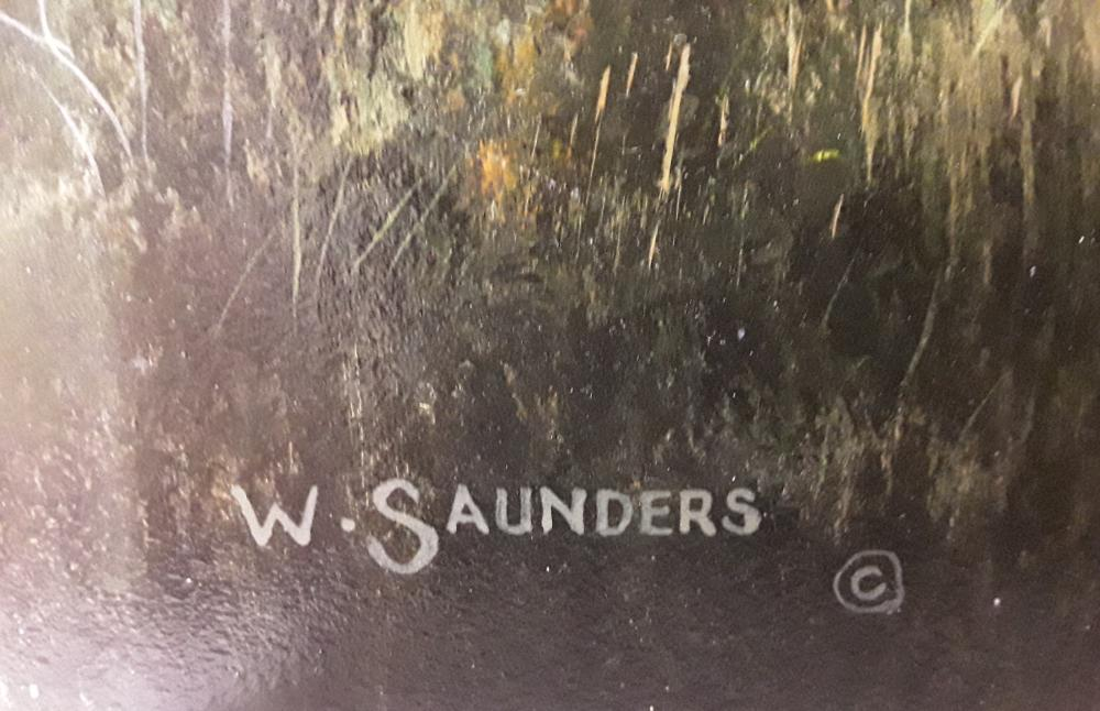 "Bill Saunders' ""Chasing Butterflies"" Original Acrylic on Masonite Painting"