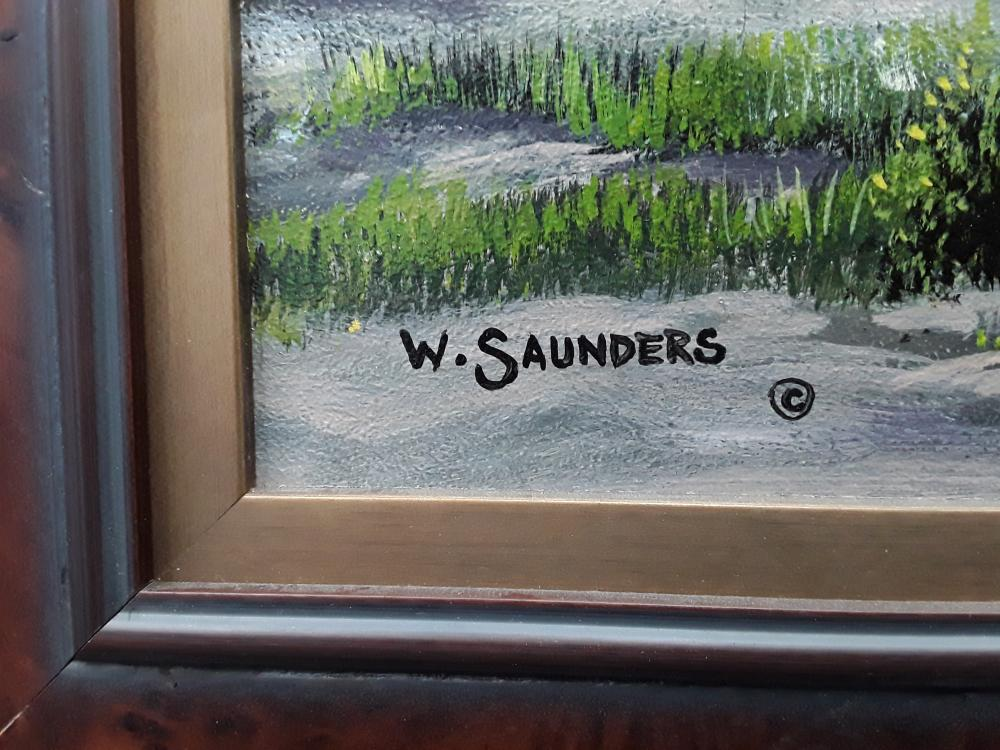 "Bill Saunders' ""End Of The Season"" Original Acrylic on Masonite Framed Painting"