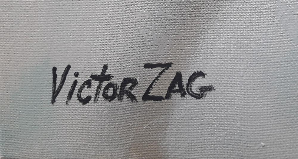 Victor Zag Original Acrylic on Canvas Painting