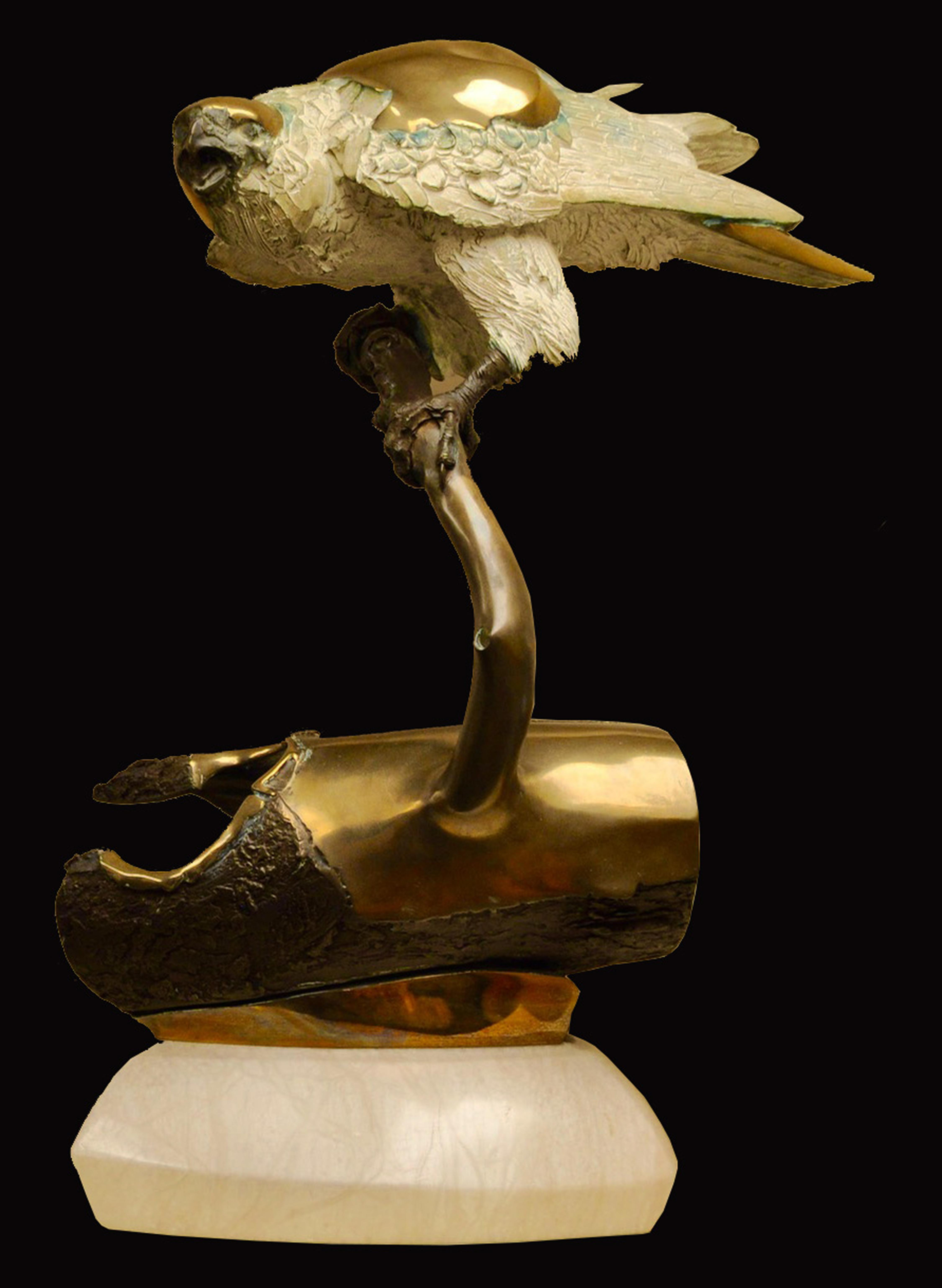 "Ron Chapel's ""Sky Touching Earth"" Limited Edition Bronze Sculpture"