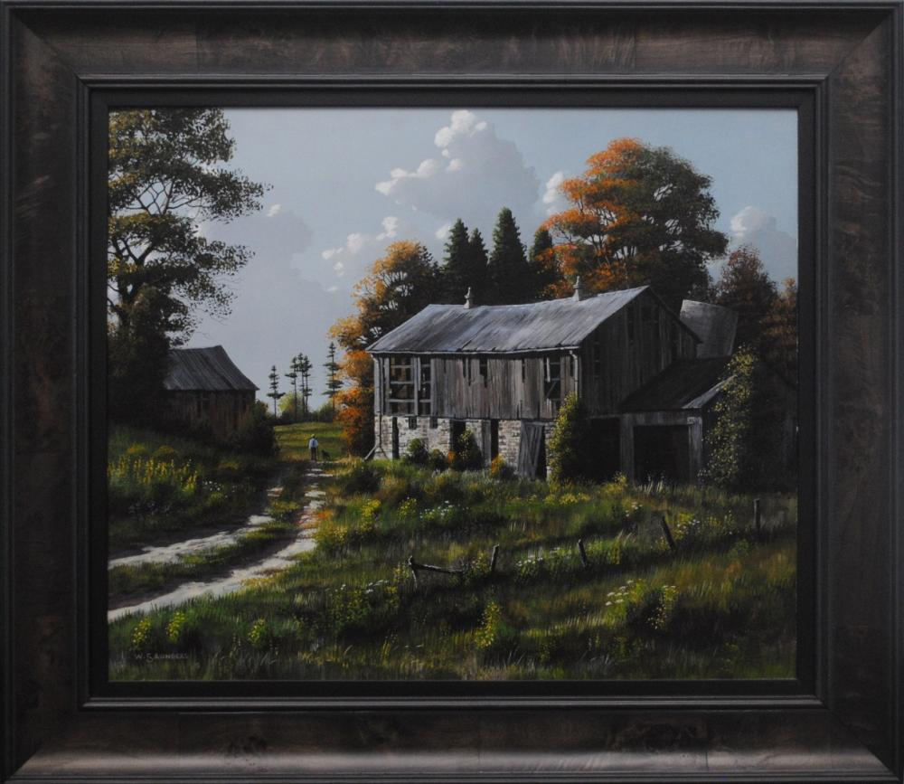 "Bill Saunders' ""Walking The Old Trail"" Original"