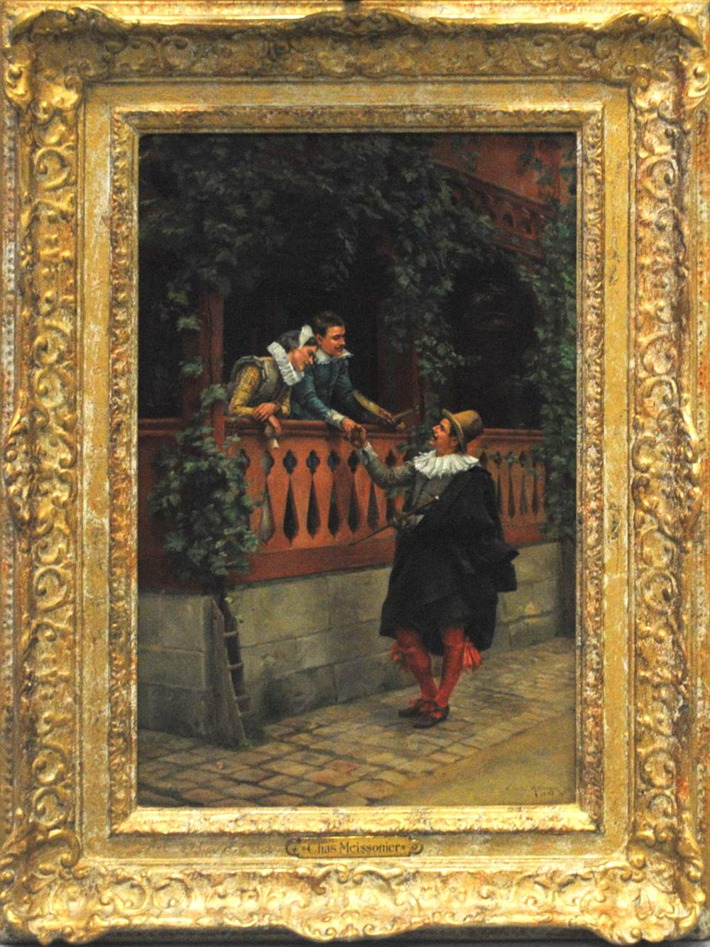 """Charles Meissonier's """"The Painter and The Gentleman"""" Original"""