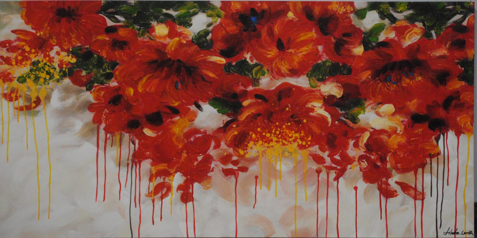 """Bright Flowers"" on Canvas"