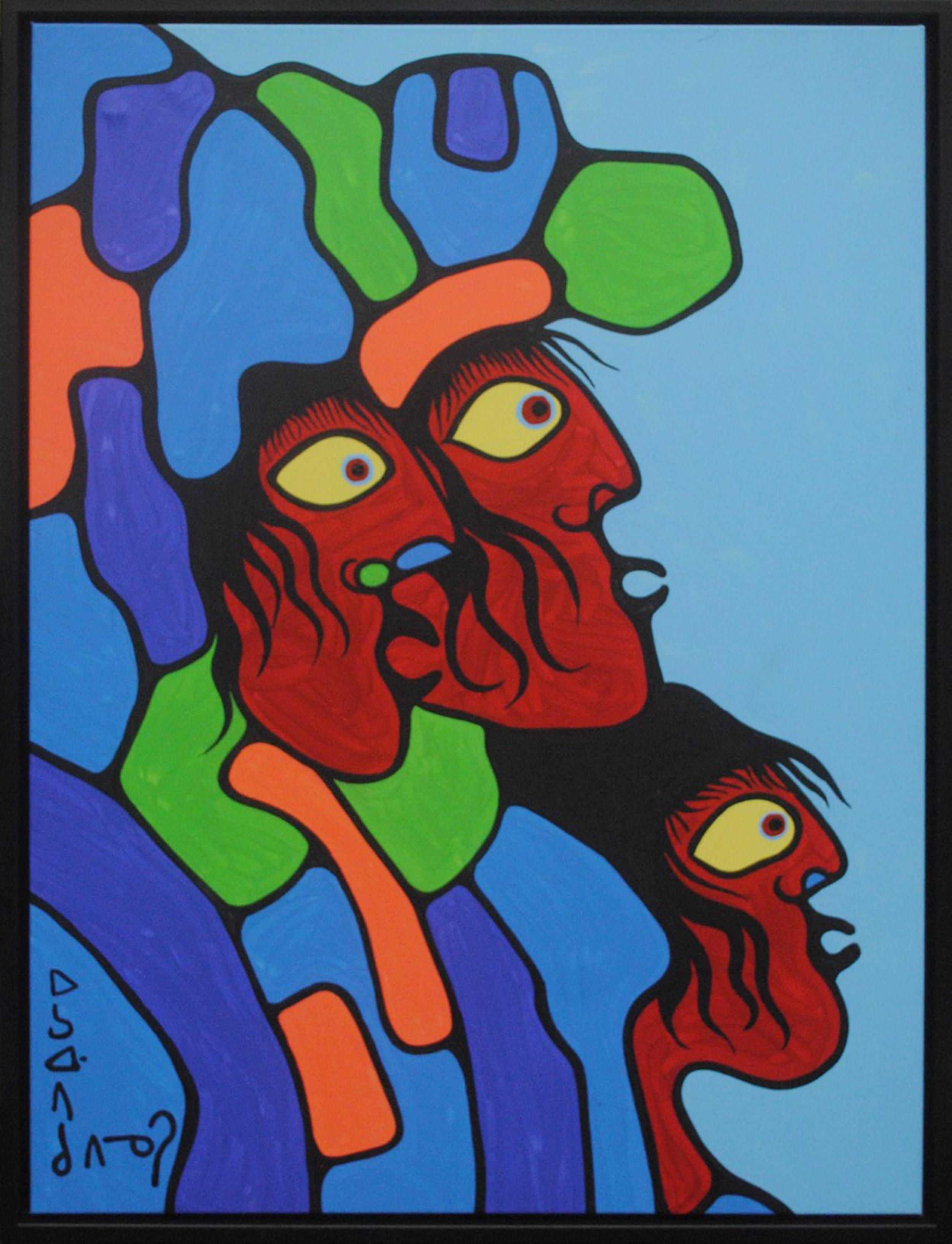 "Norval Morrisseau's ""Three Wise Men"" Original"