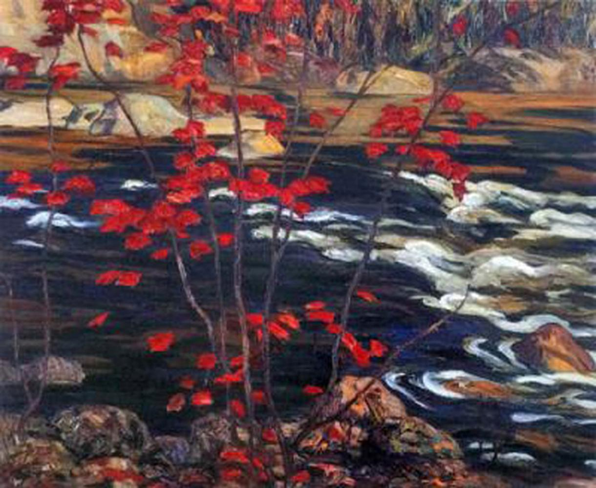 "A.Y. Jackson's ""Red Maple"" Giclee Canvas"