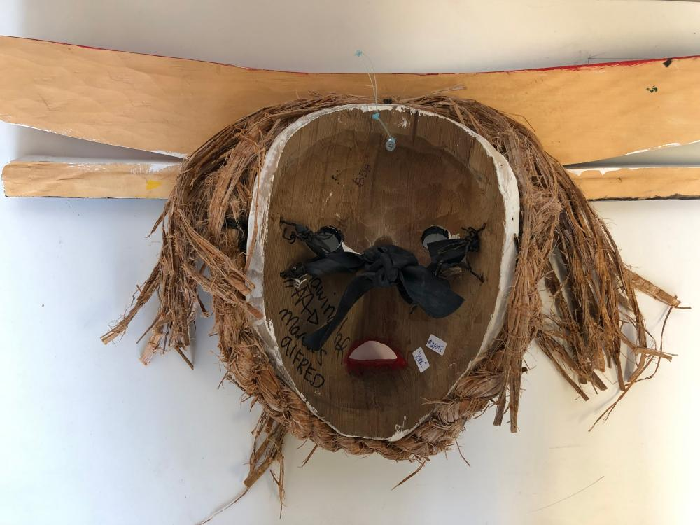 "Marcus Alfred's ""Hawinalat"" Original Wooden Carved Mask"
