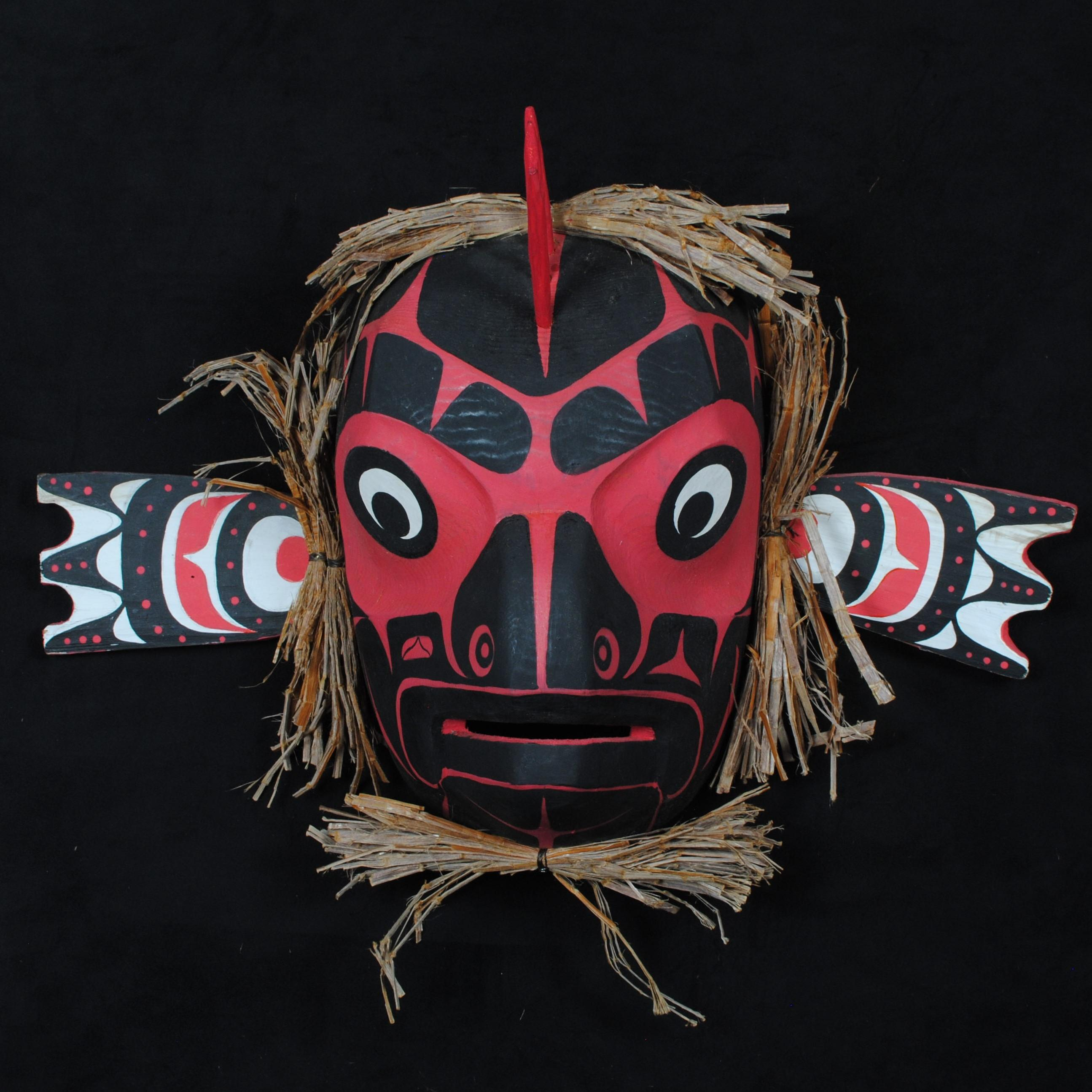 "Donald Alfred's ""Cod"" Original Wooden Carved Mask"