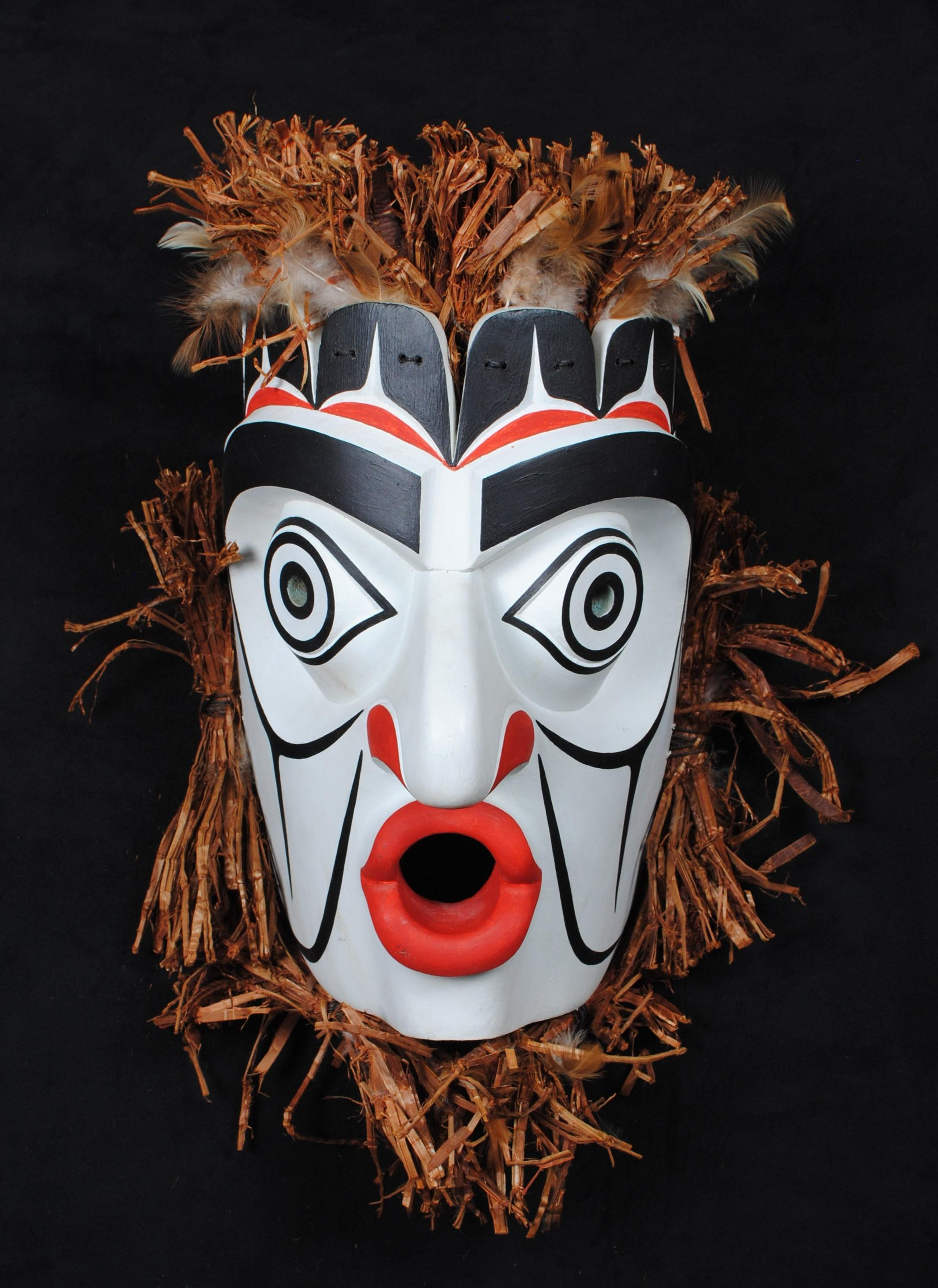 "Thomas Bruce's ""Mountain Goat Hunter"" Orig. Carved Mask"