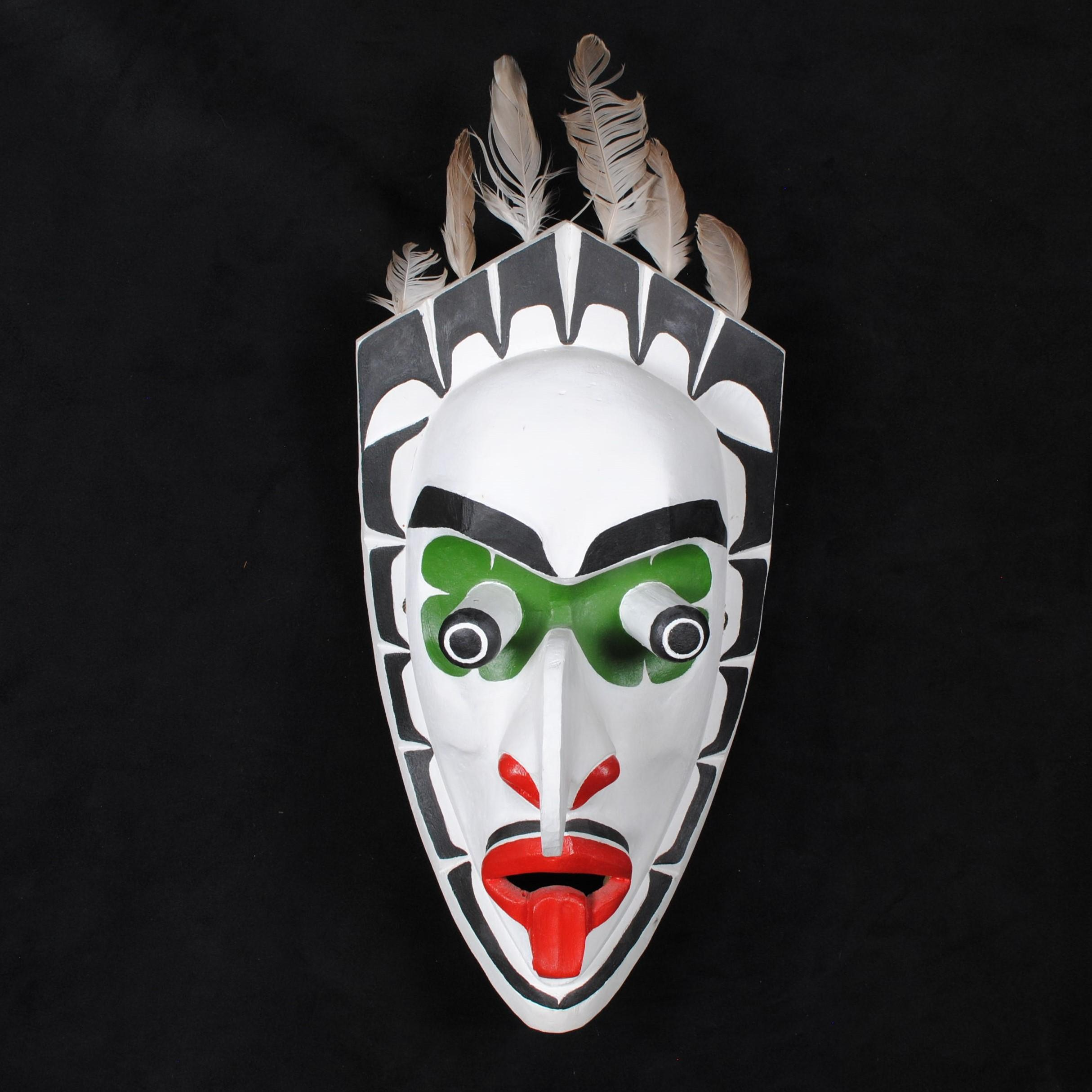 """Silus Coon's """"Xwi Xwi"""" Original Wooden Carved Mask"""