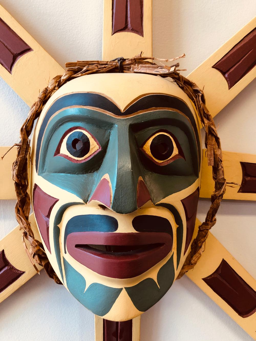 "Doug Martel's ""Sun"" Original Wooden Carved Mask"