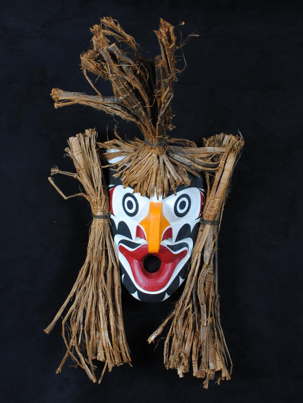 "Thomas Bruce's ""Grouse"" Original Wooden Carved Mask"