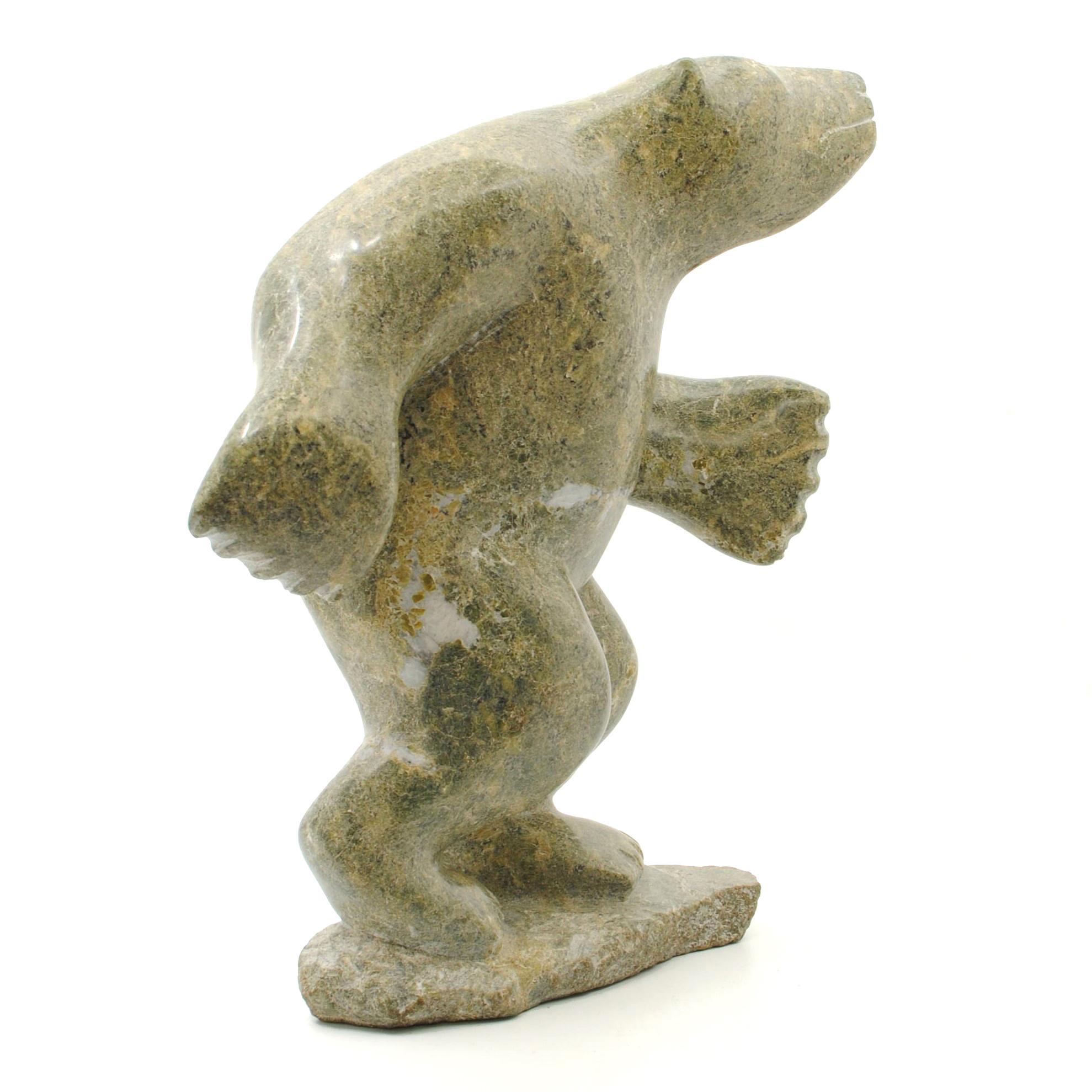 """Inesk Padluq's """"Bear"""" Original Inuit Carving"""