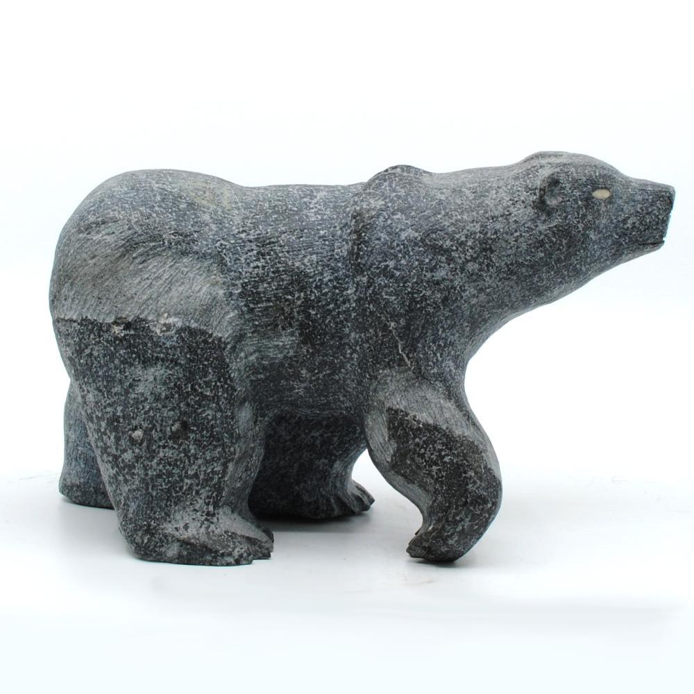 """Putuguk Ashevak's """"Bear"""" Original Inuit Carving"""