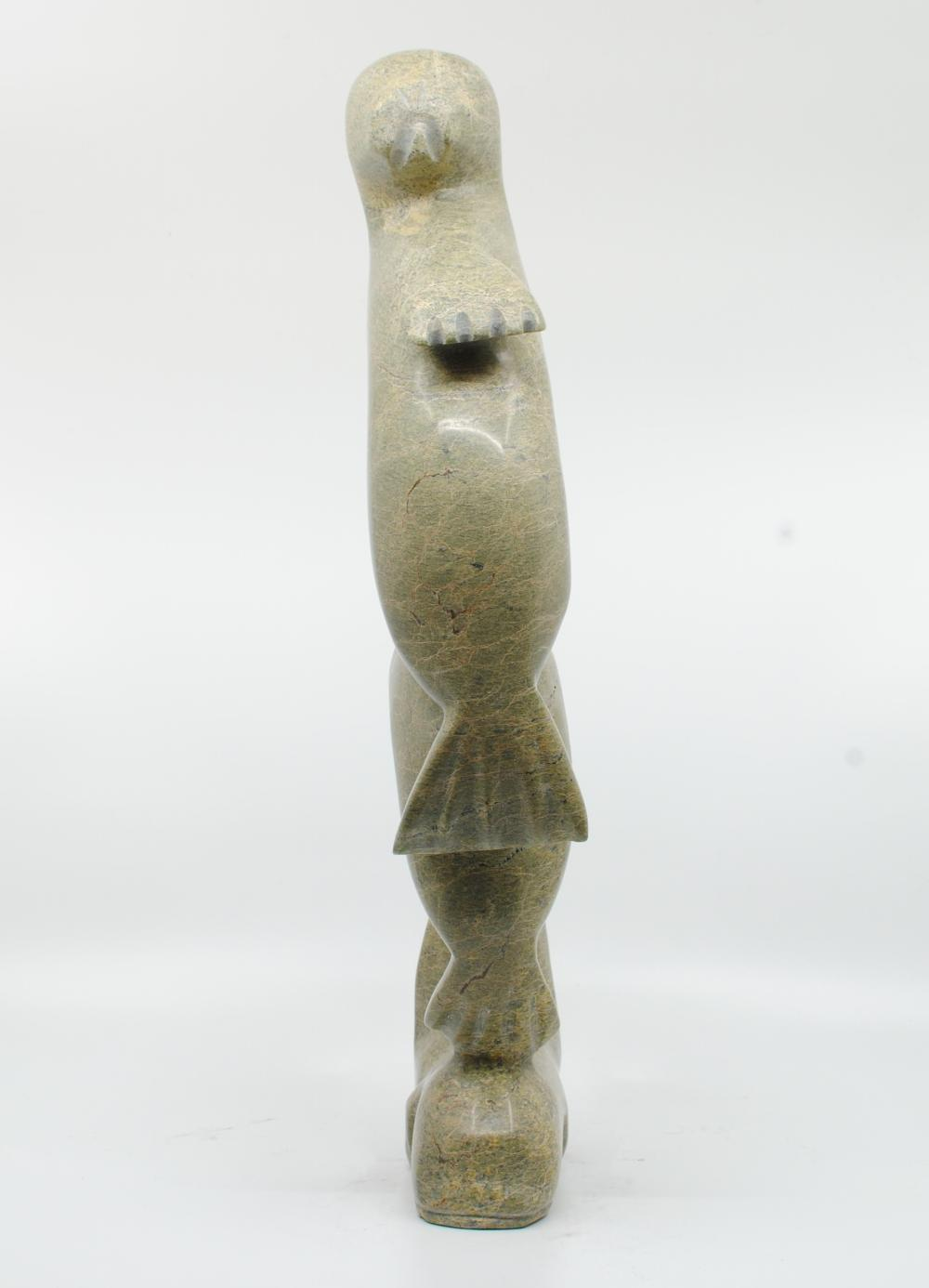 """Liuassie Kobola's """"Seals and Whales"""" Inuit Carving"""