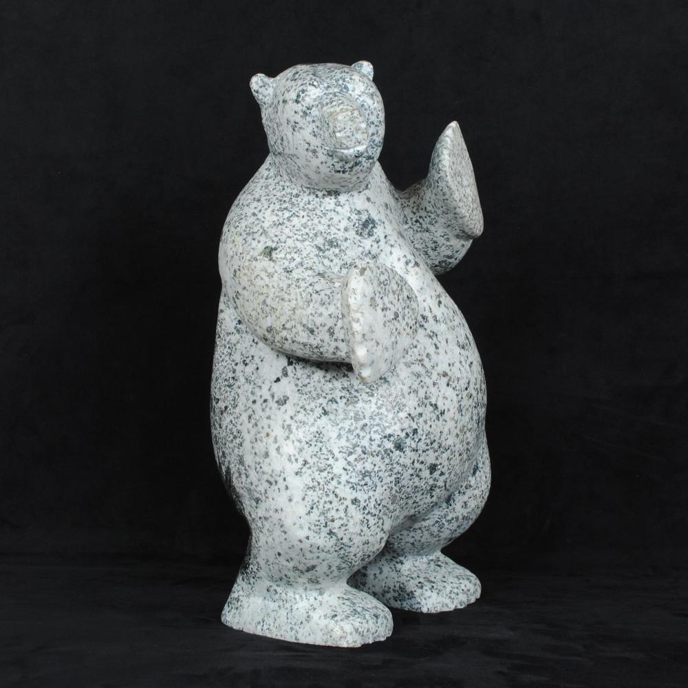 """Simeonie Killiktee's """"Bear"""" Original Inuit Carving"""