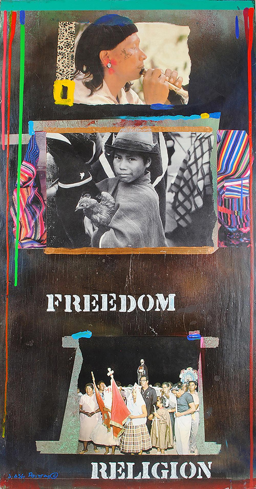 "Jane Ash Poitras's ""Freedom Religion"" Original Painting"