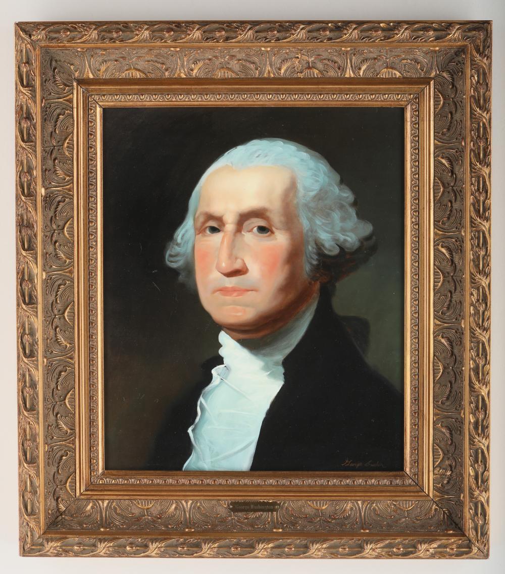 """George Saunders' """"George Washington"""" on Canvas"""