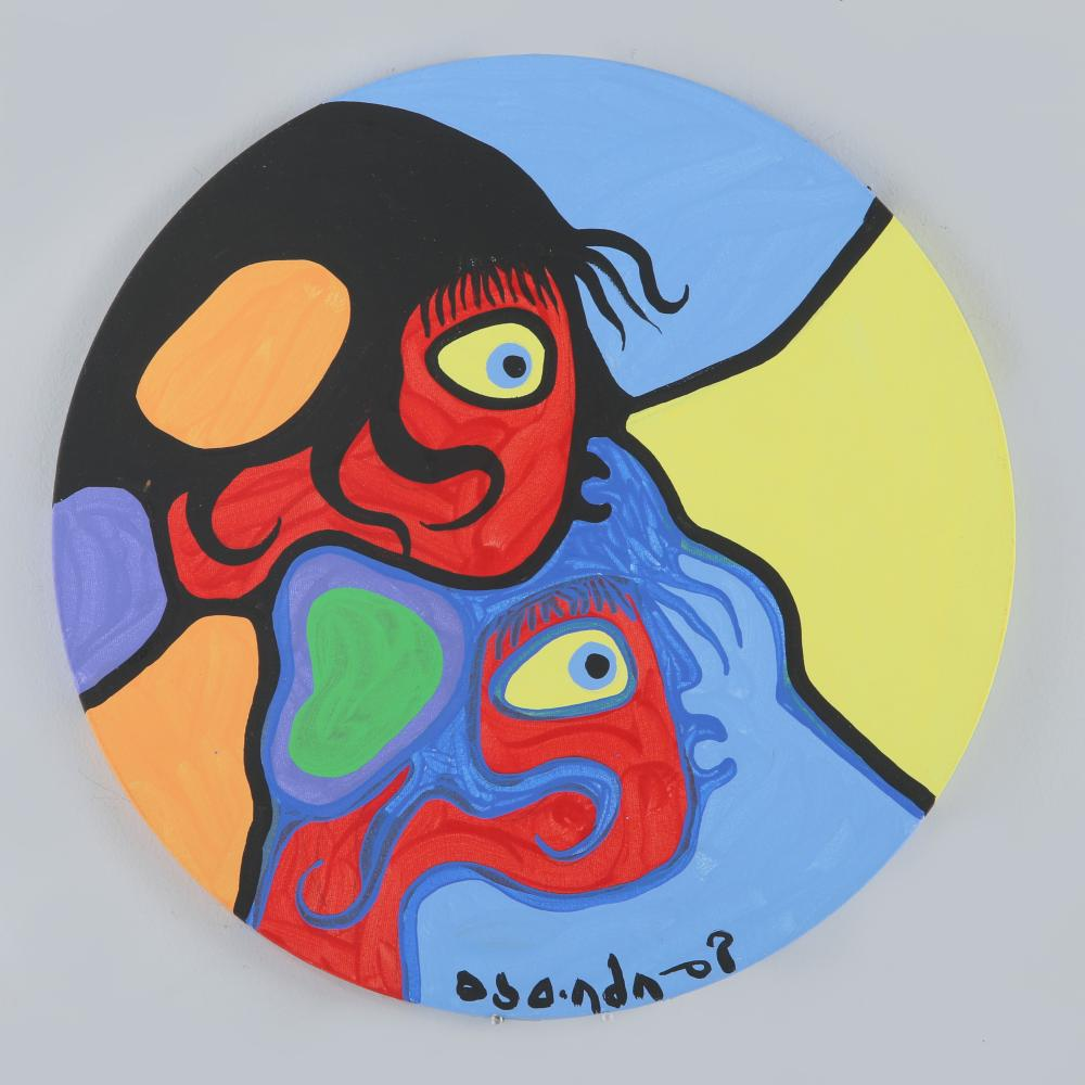 "Norval Morrisseau's ""Children Listening"" Original"