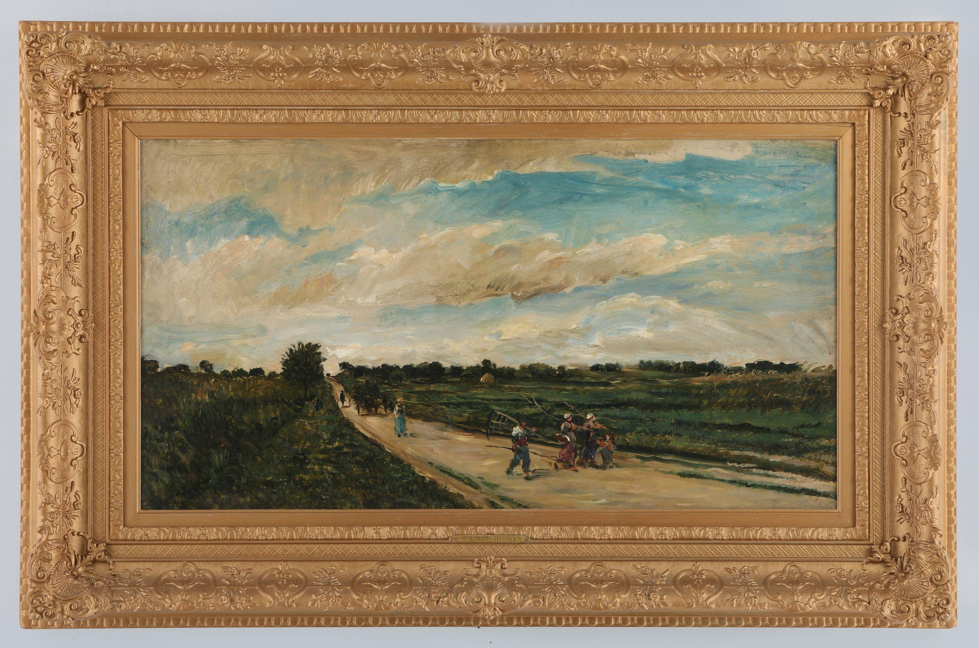 "Charles-Francois Daubigny's ""Going To Work"" Original"
