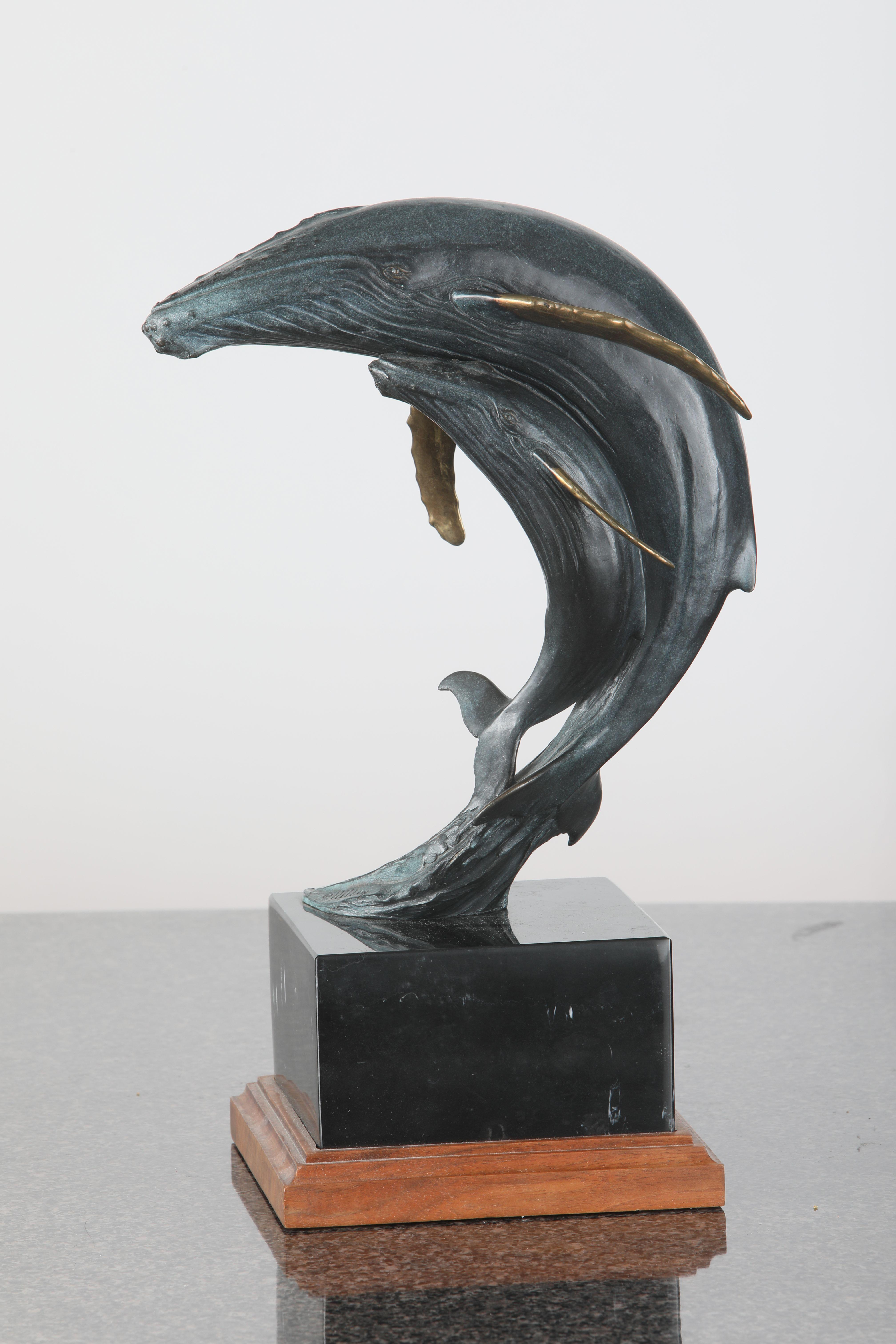 "Kent Ullberg's ""Humpbacks"" Limited Edition Bronze Sculpture"
