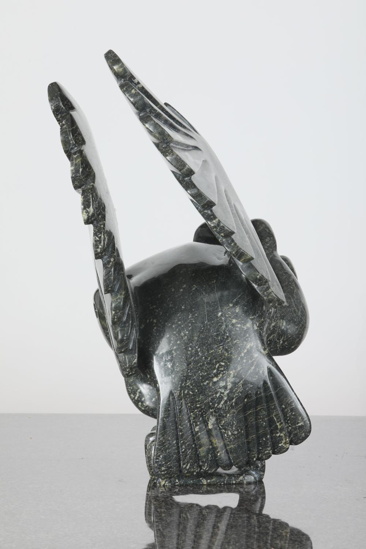 "Toonoo Sharky's ""Owl"" Original Serpentine Sculpture"