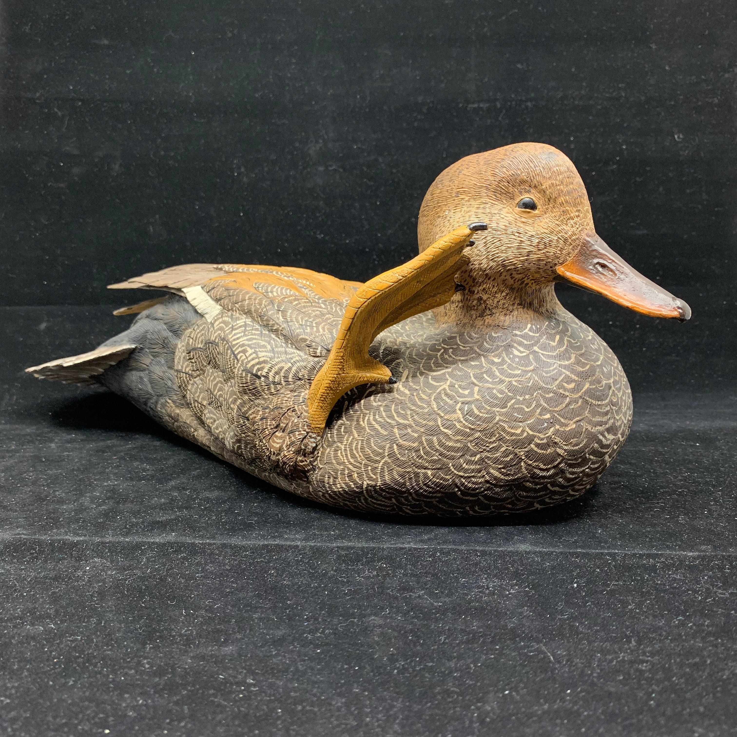 """Don Marion's """"Gadwell"""" Original Hand Carved Duck Decoy"""