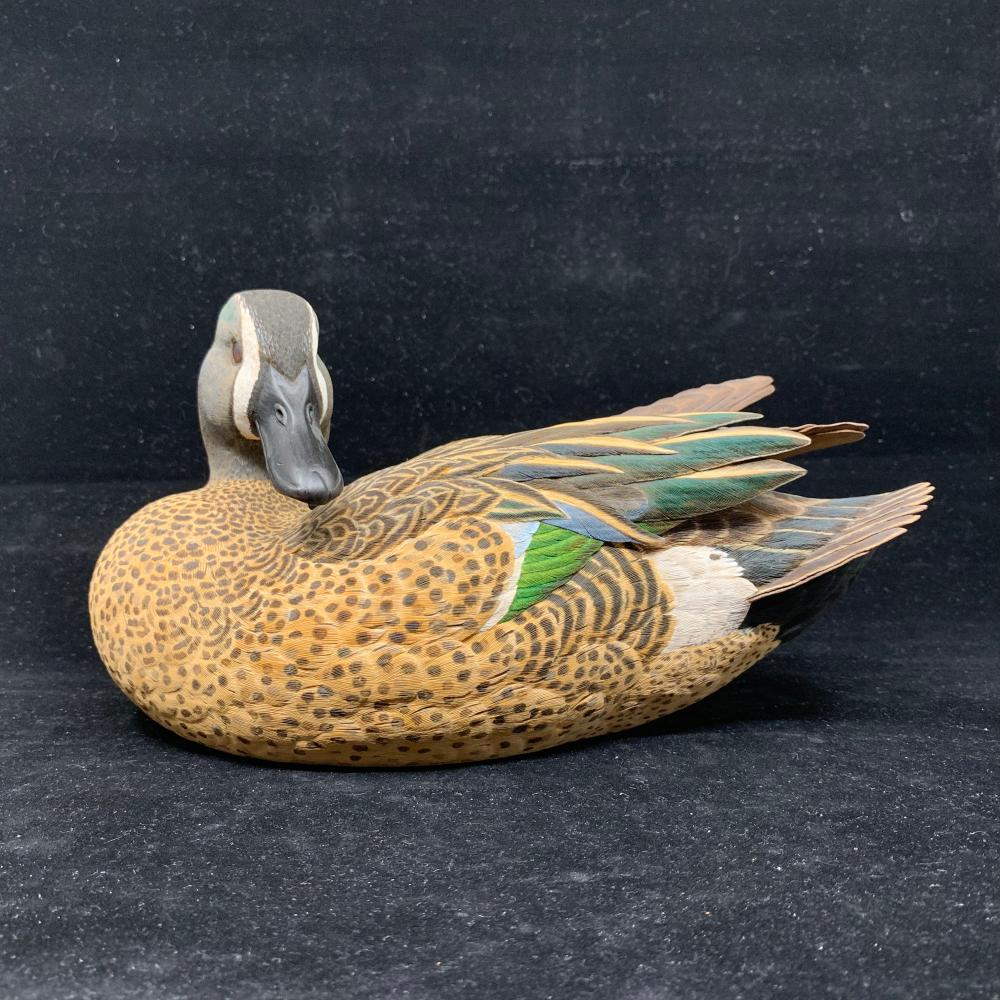 "P. Dick's ""Teal"" Original Hand Carved Duck Decoy"