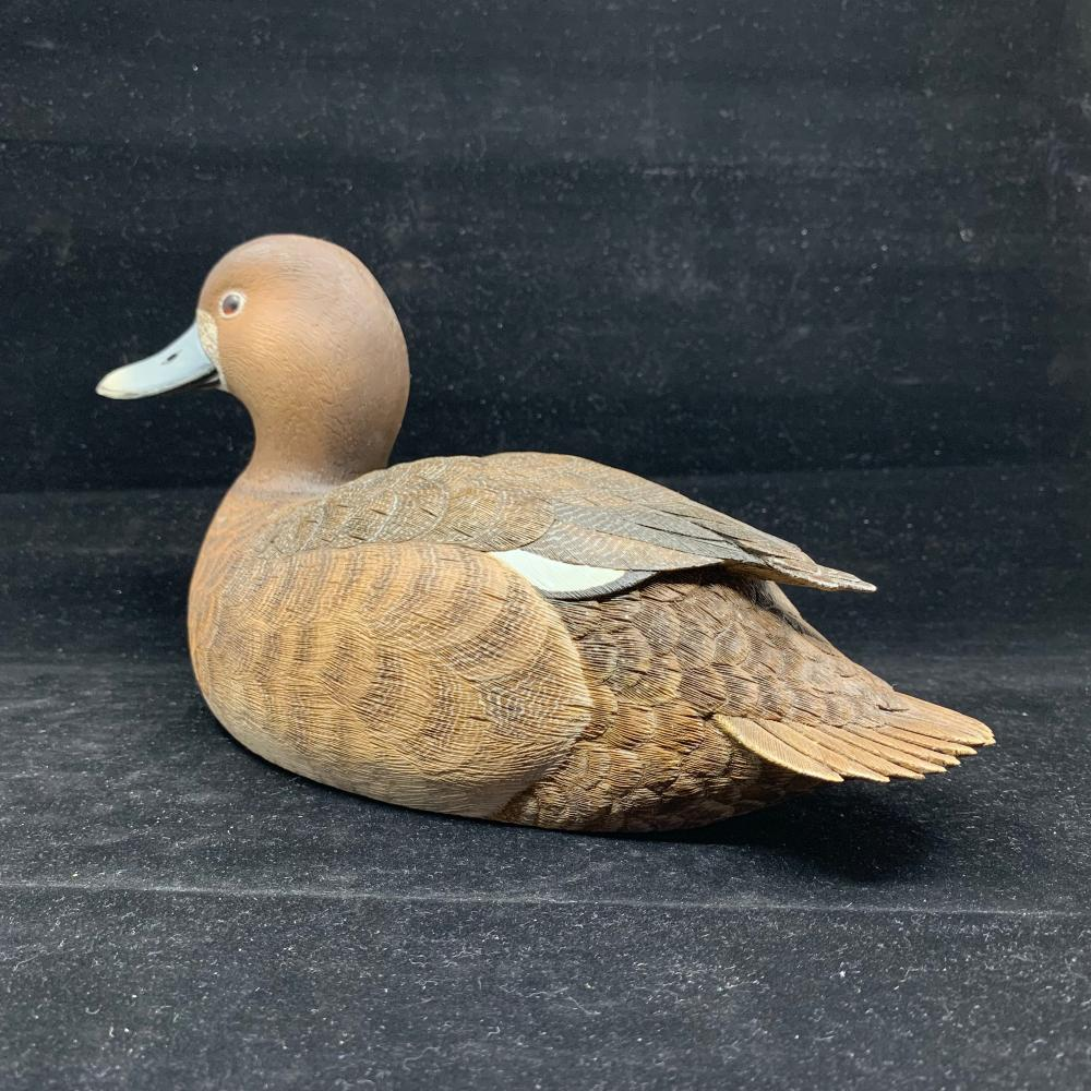 "Frank Ryan's ""Blue-Bill Hen"" Original Hand Carved Duck Decoy"