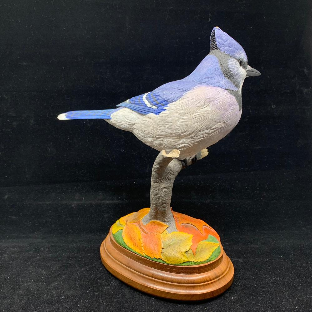 "Paul Burdette's ""First Sign on Fall"" Blue Jay Original Carving"