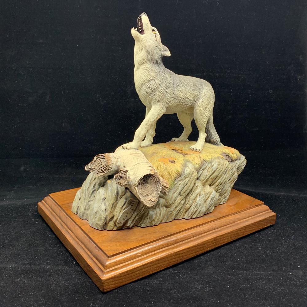 Paul Burdette's Wolf Carving AP 8/15