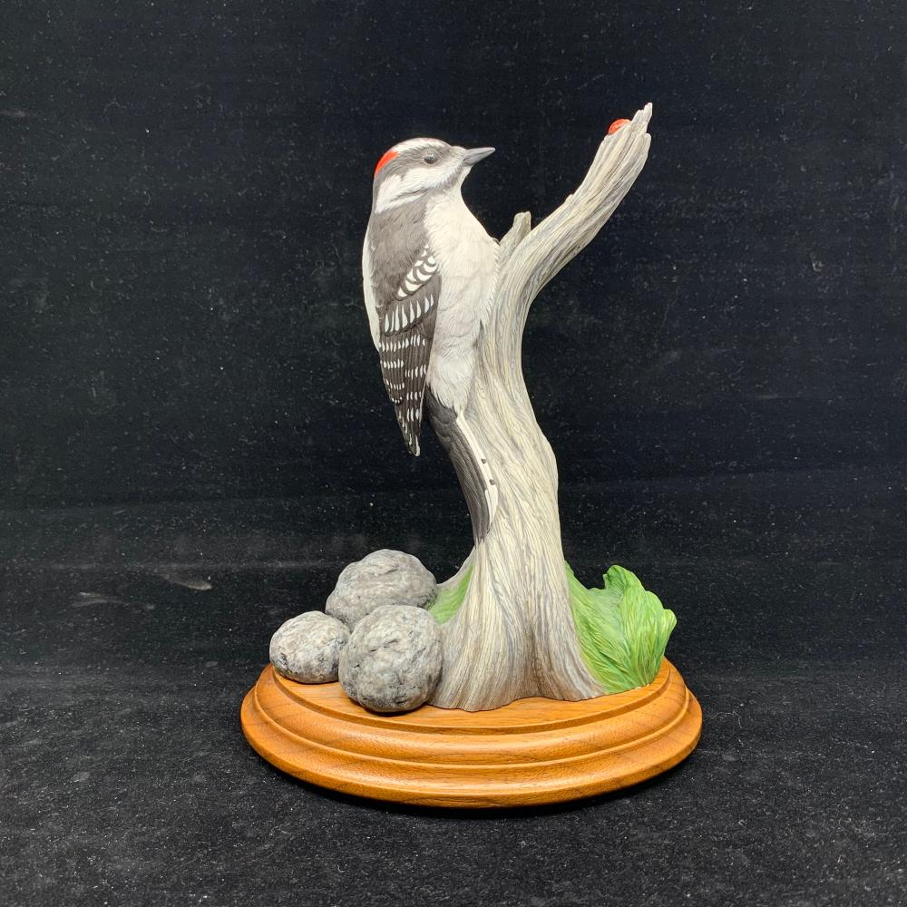 "Paul Burdette's ""Downy Woodpecker"" Original Carving"