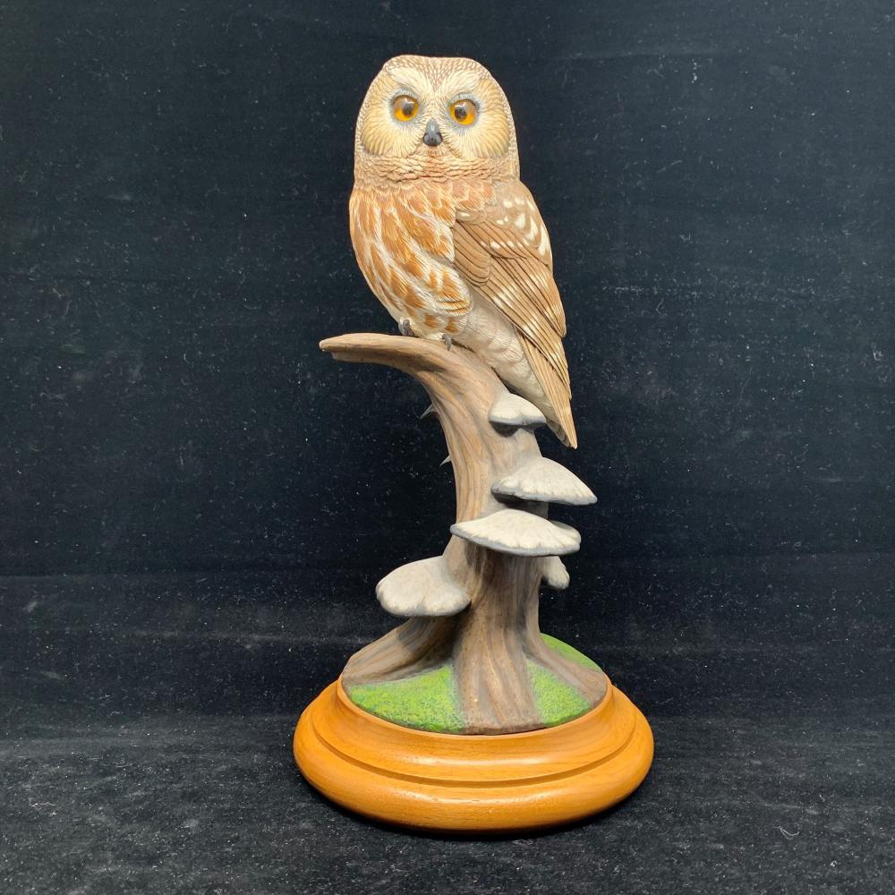 "Paul Burdette's ""Saw-Whet Owl"" Original Carving"