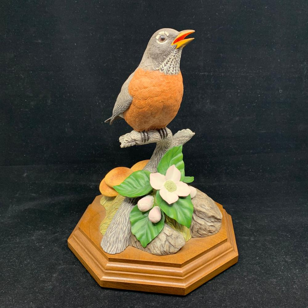 "Paul Burdette's ""Sweet Sounds of Springs"" American Robin Original Carving"