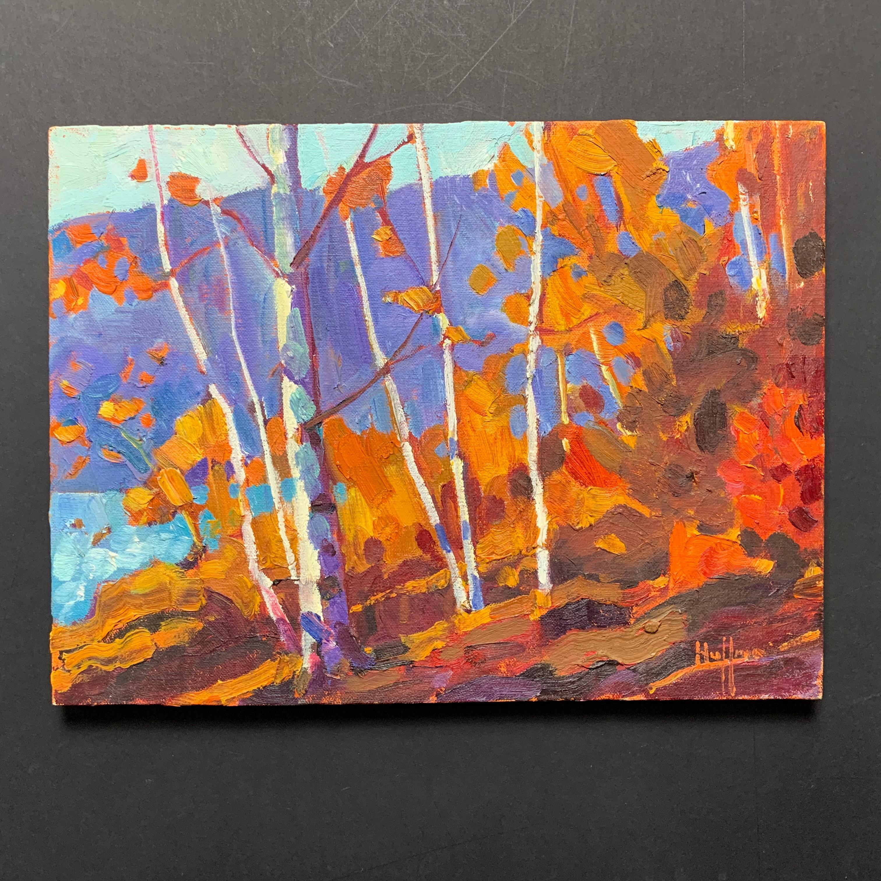 """Robert Huffman's """"Smoke Lake Morning"""" Original"""